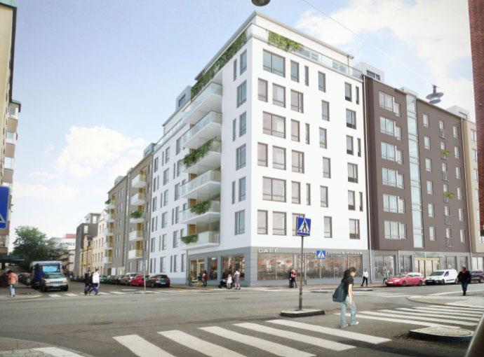 Rivning, nyb & omb av flerbostadshus, garage mm på Södermalm