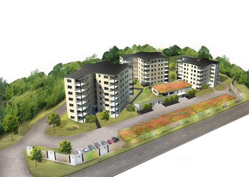 Nybyggnad av flerbostadshus i Varberg