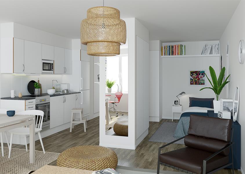 Ombyggnad av lokaler till studentlägenheter i Växjö